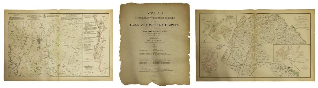 "(2) ""OFFICIAL"" 1892 GETTYSBURG CIVIL WAR MAPS"