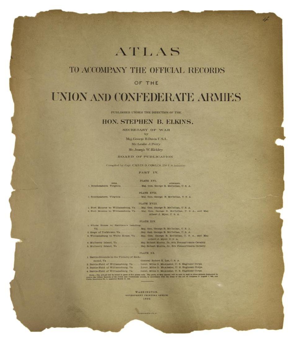 "(2) ""OFFICIAL"" 1892 GETTYSBURG CIVIL WAR MAPS - 2"