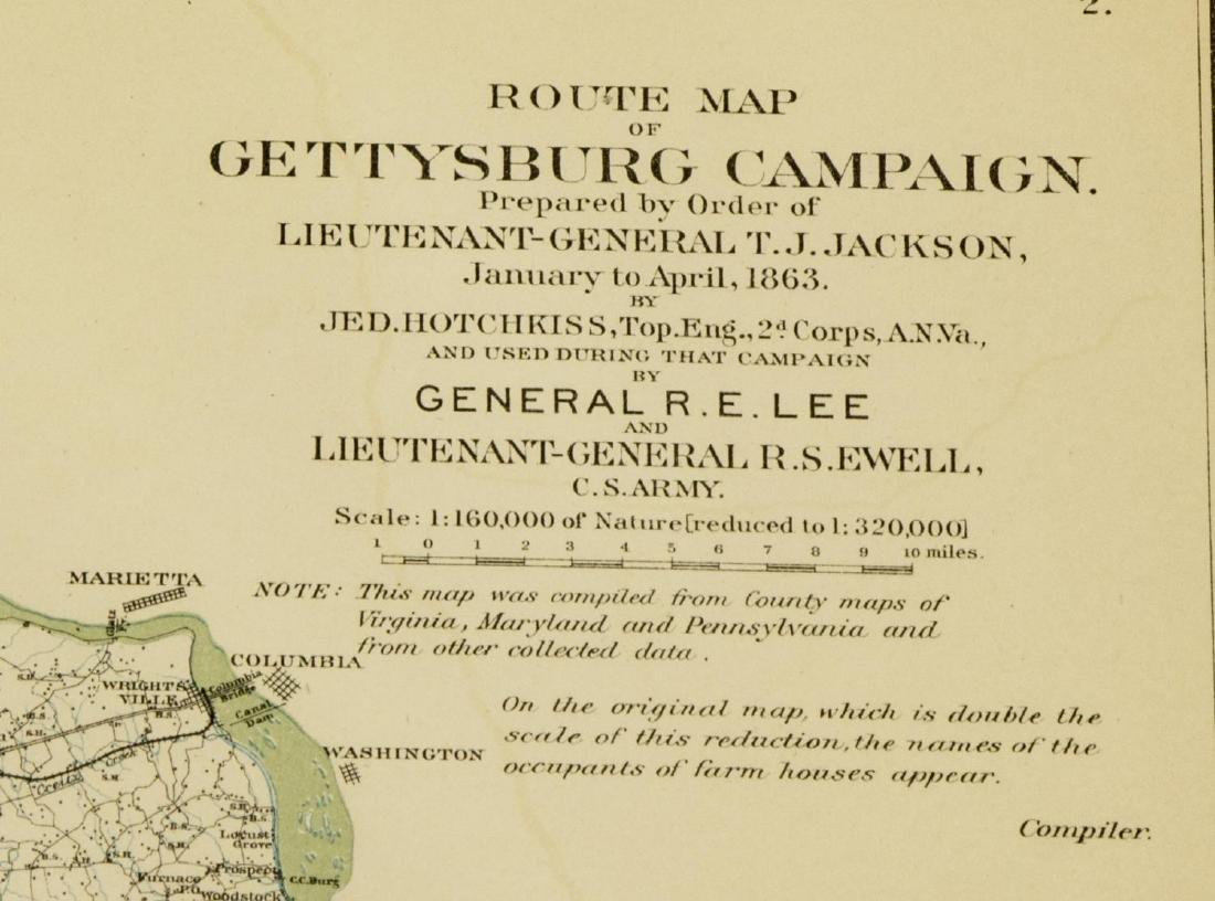 "(2) ""OFFICIAL"" 1892 GETTYSBURG CIVIL WAR MAPS - 8"