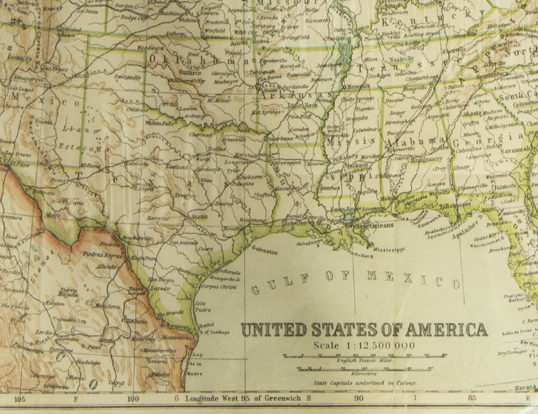 (2) UNITED STATES & NORTH AMERICA, 1910 MAPS - 5