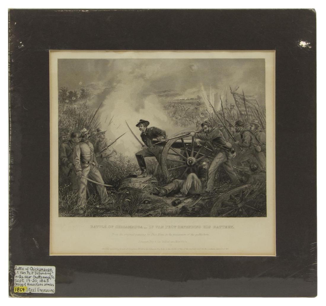 (4) CIVIL WAR ENGRAVINGS, LEE SURRENDER & BATTLES - 4