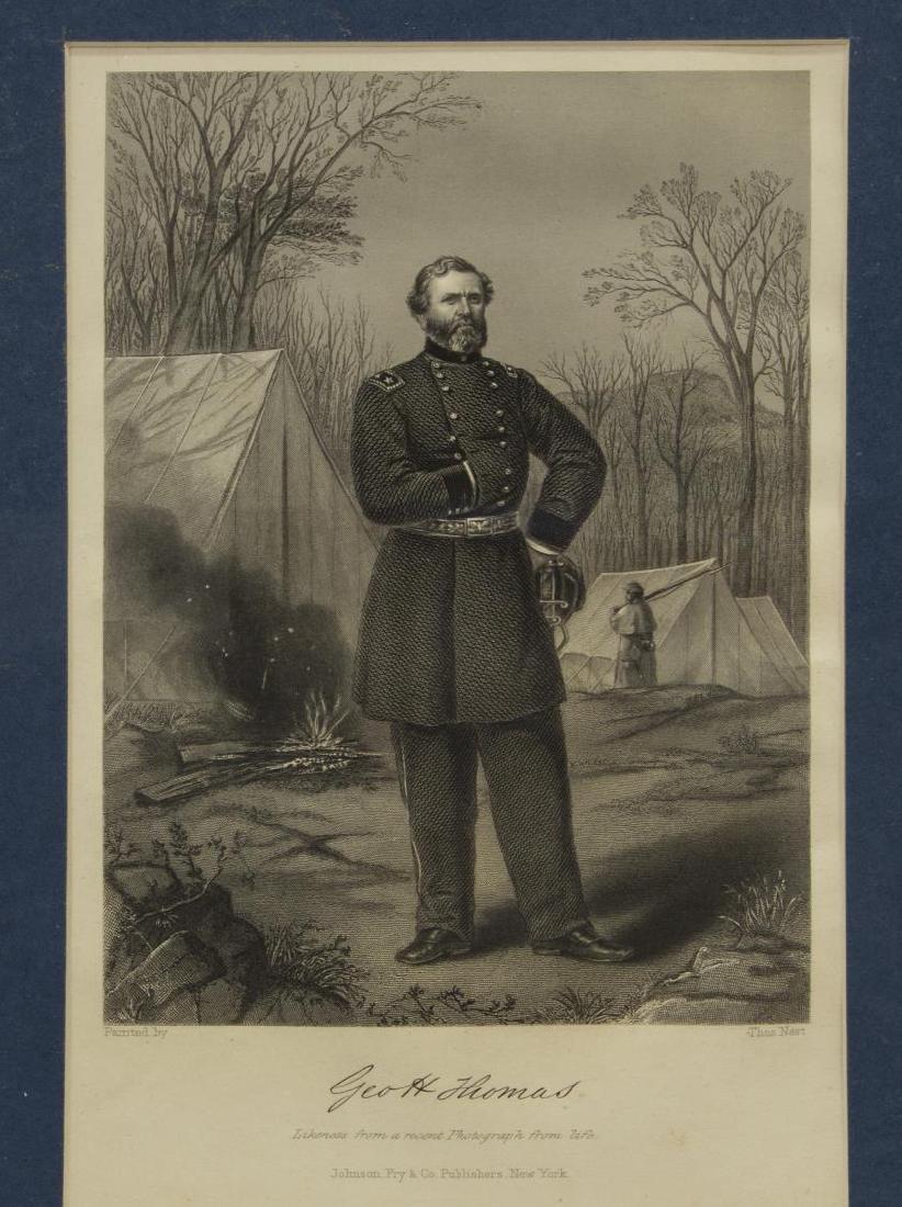 (6) CIVIL WAR ENGRAVINGS, LITHOS, GENERALS - 2