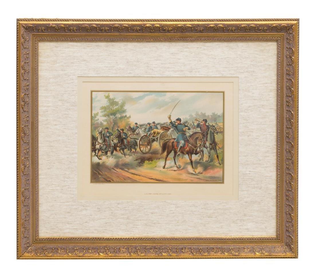 U.S. ARMY HORSE ARTILLERY, 1865, CHROMOLITHOGRAPH