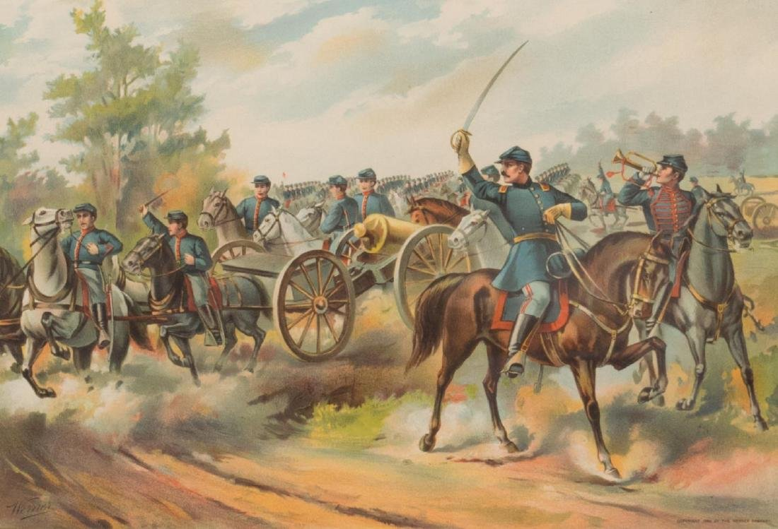U.S. ARMY HORSE ARTILLERY, 1865, CHROMOLITHOGRAPH - 2