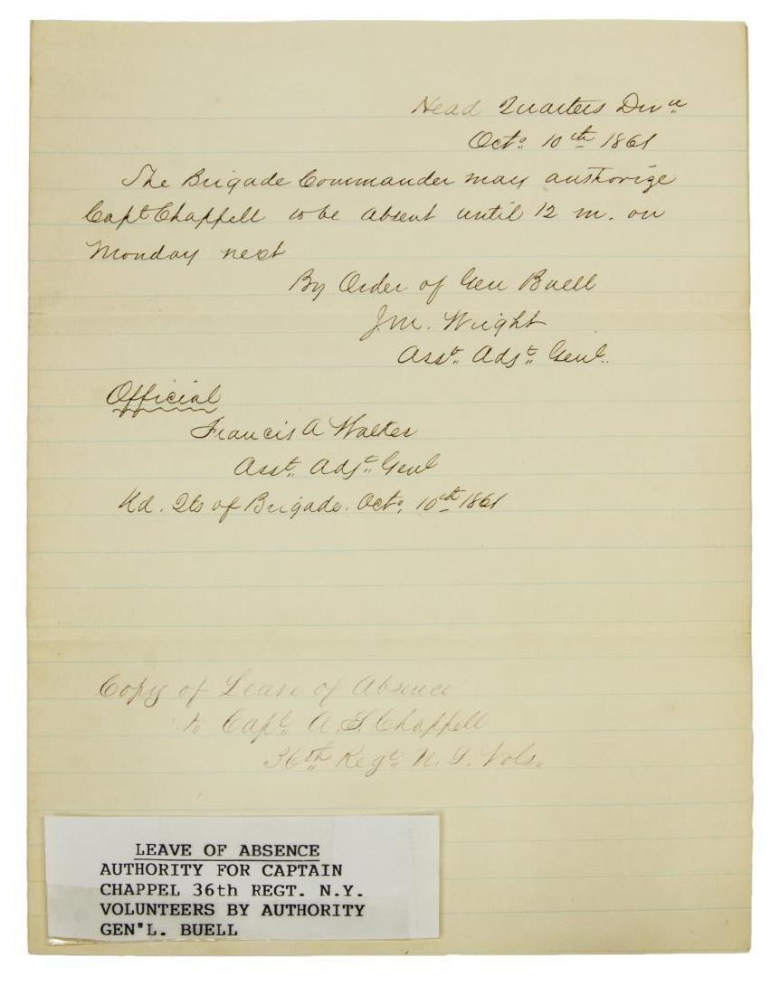 (3) U.S. CIVIL WAR DOCUMENTS, LETTERS & GNL. ORDER - 3