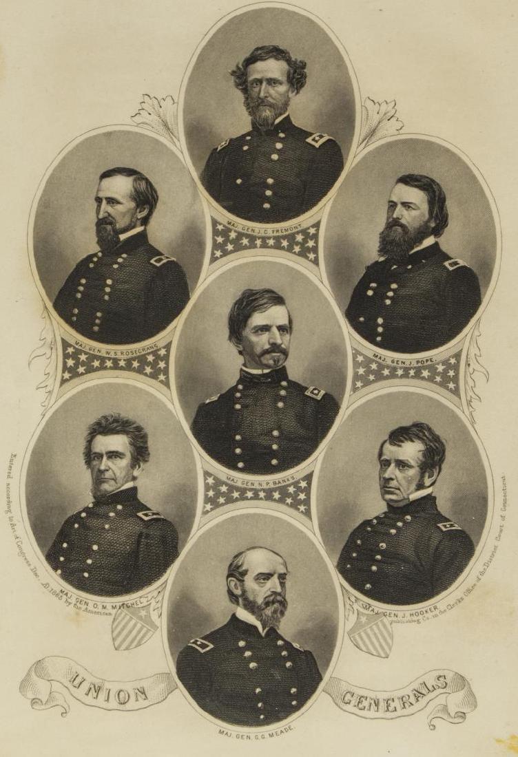 (6) ENGRAVINGS CIVIL WAR GENERALS, U.S. & C.S.A. - 2