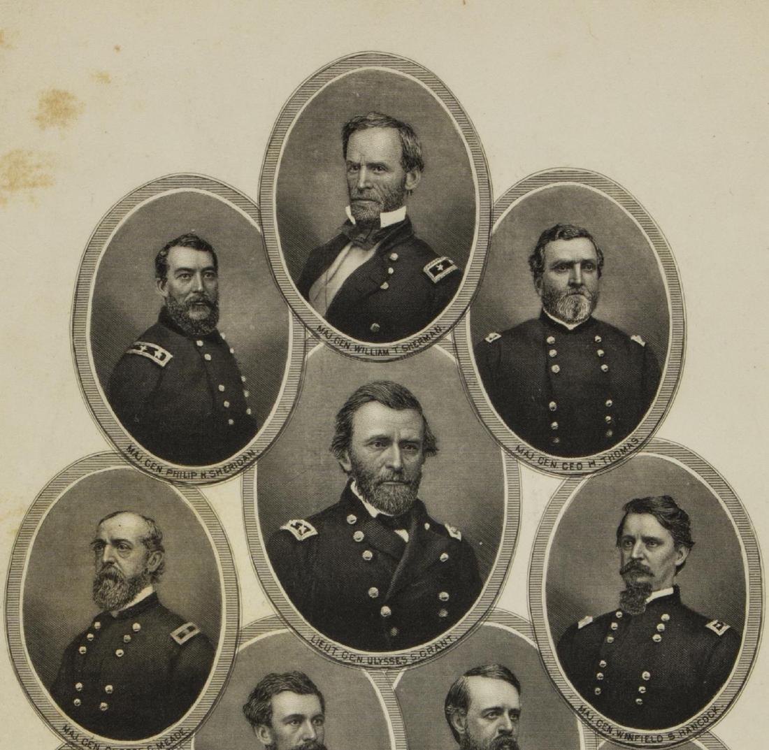 (6) ENGRAVINGS CIVIL WAR GENERALS, U.S. & C.S.A. - 3