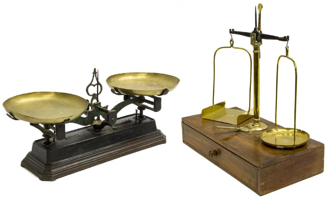 (2) FRENCH BALANCE SCALES