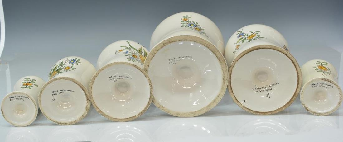 (7) FRENCH MEILLONNAS FAIENCE APOTHECARY JARS - 3