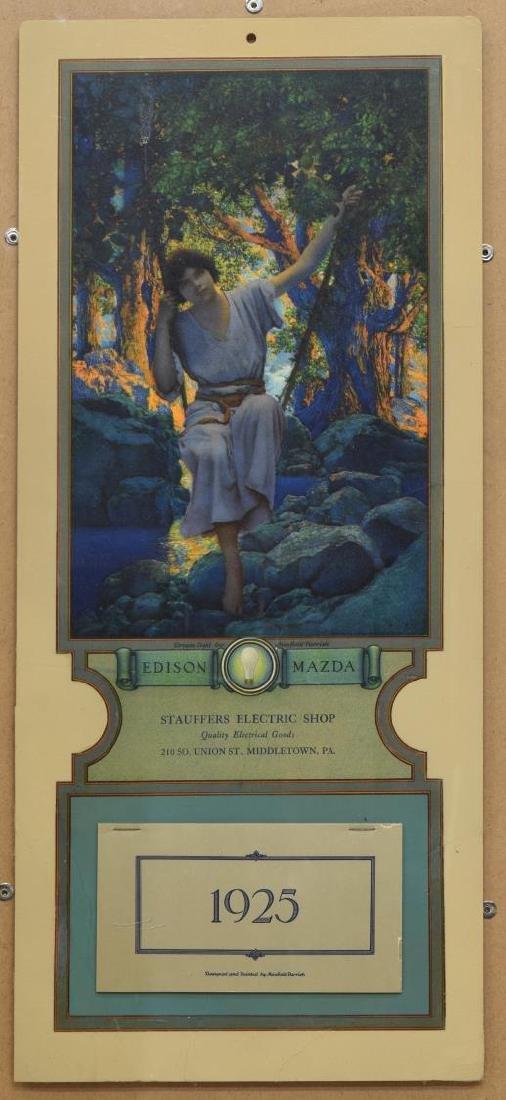 MAXFIELD PARRISH EDISON MAZDA 1925 INTACT CALENDAR