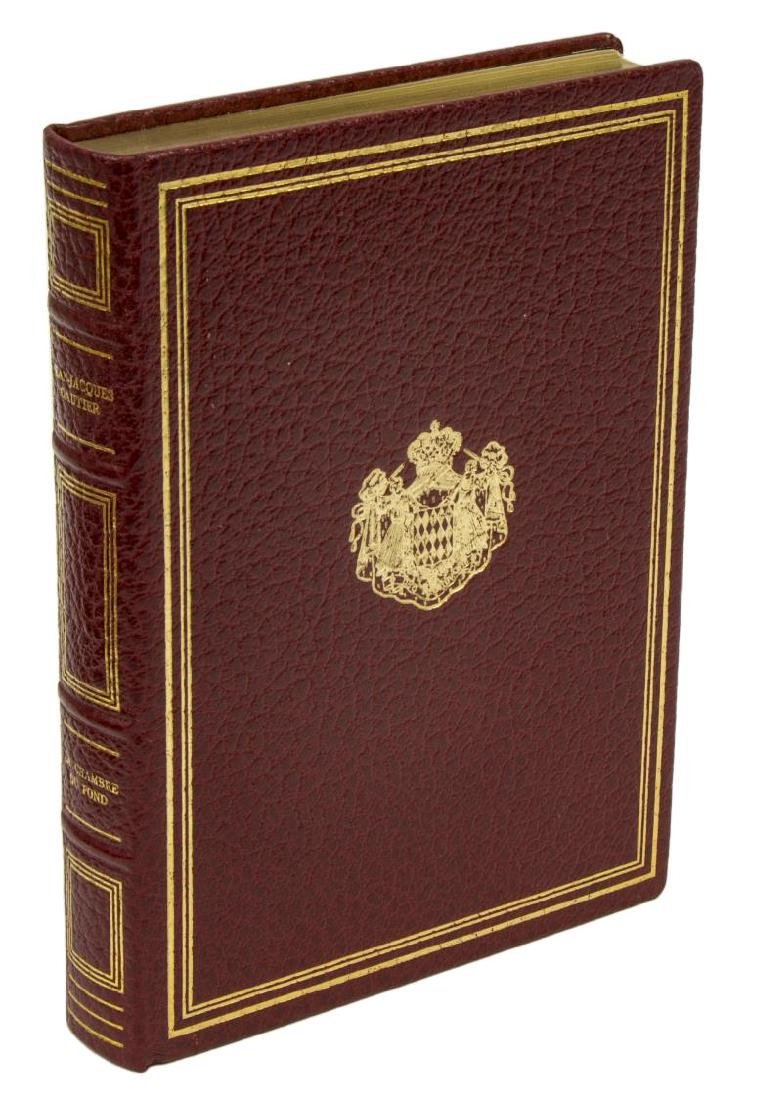 (14) FRENCH GILT RED LEATHER-BOUND LIBRARY BOOKS - 3