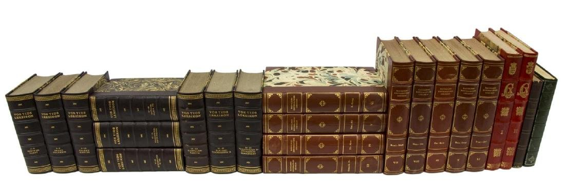(22) DANISH LEATHER-BOUND HARDCOVER LIBRARY BOOKS - 2