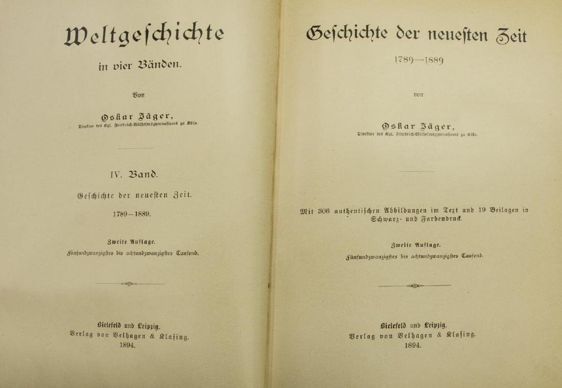 (4) GERMAN HISTORY BOOKS, VARIOUS AUTHORS - 5