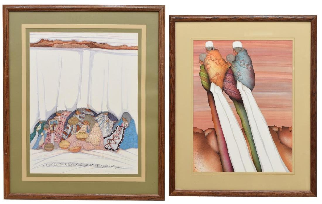 (2) FRAMED PRINTS BY AMADO MAURILLO PENA (B.1943)