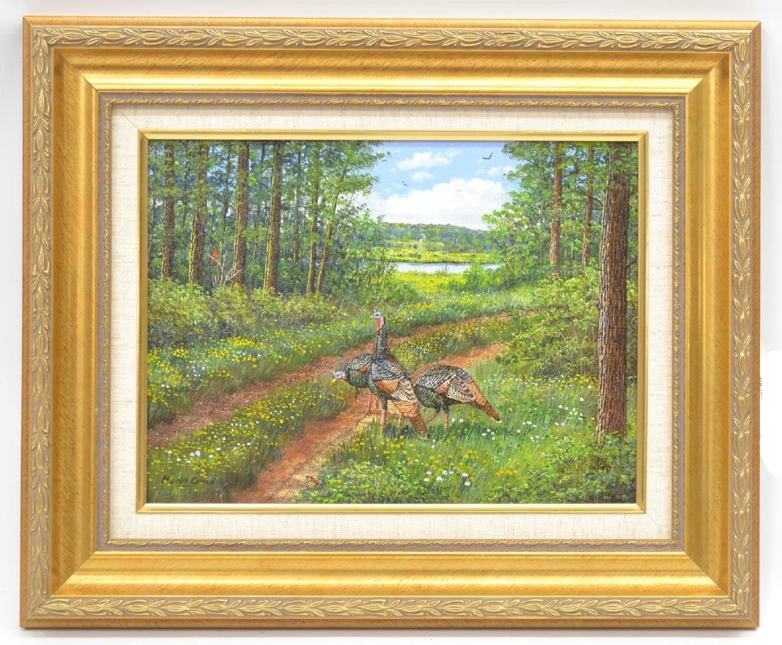 MANUEL GARZA (TEXAS, B.1940) FRAMED OIL PAINTING - 2