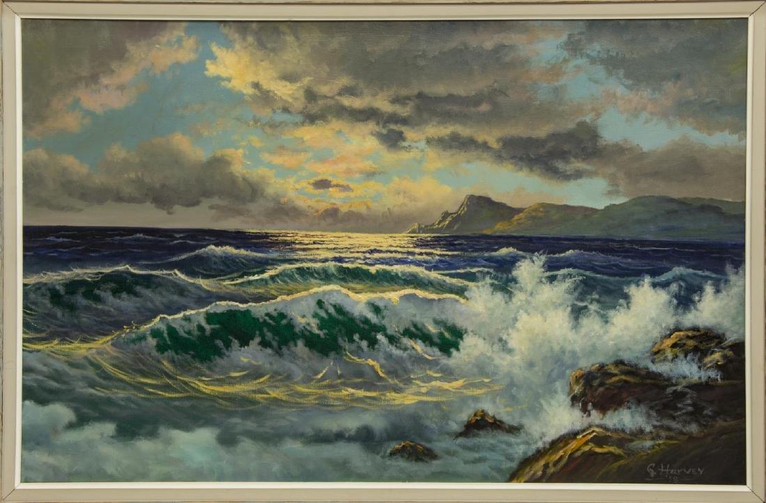 "G. HARVEY (1933-2017) OCEAN & MOUNTAINS, 24""x36"""
