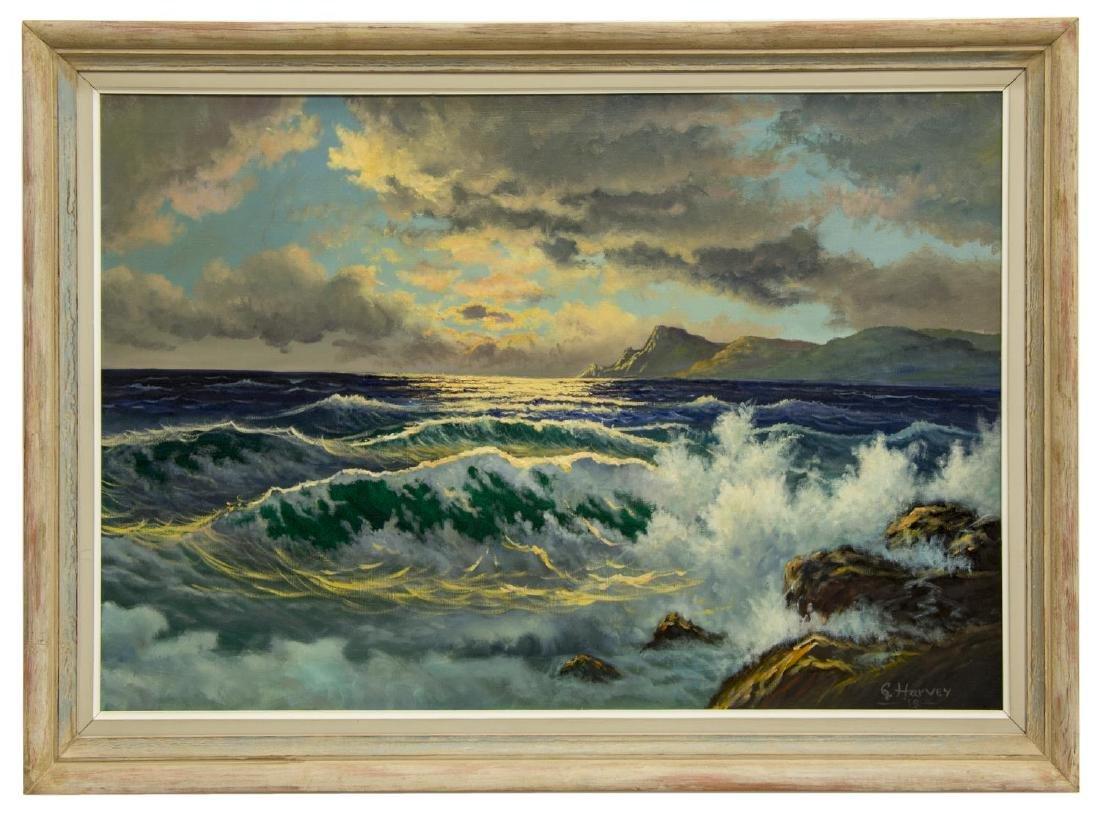 "G. HARVEY (1933-2017) OCEAN & MOUNTAINS, 24""x36"" - 2"