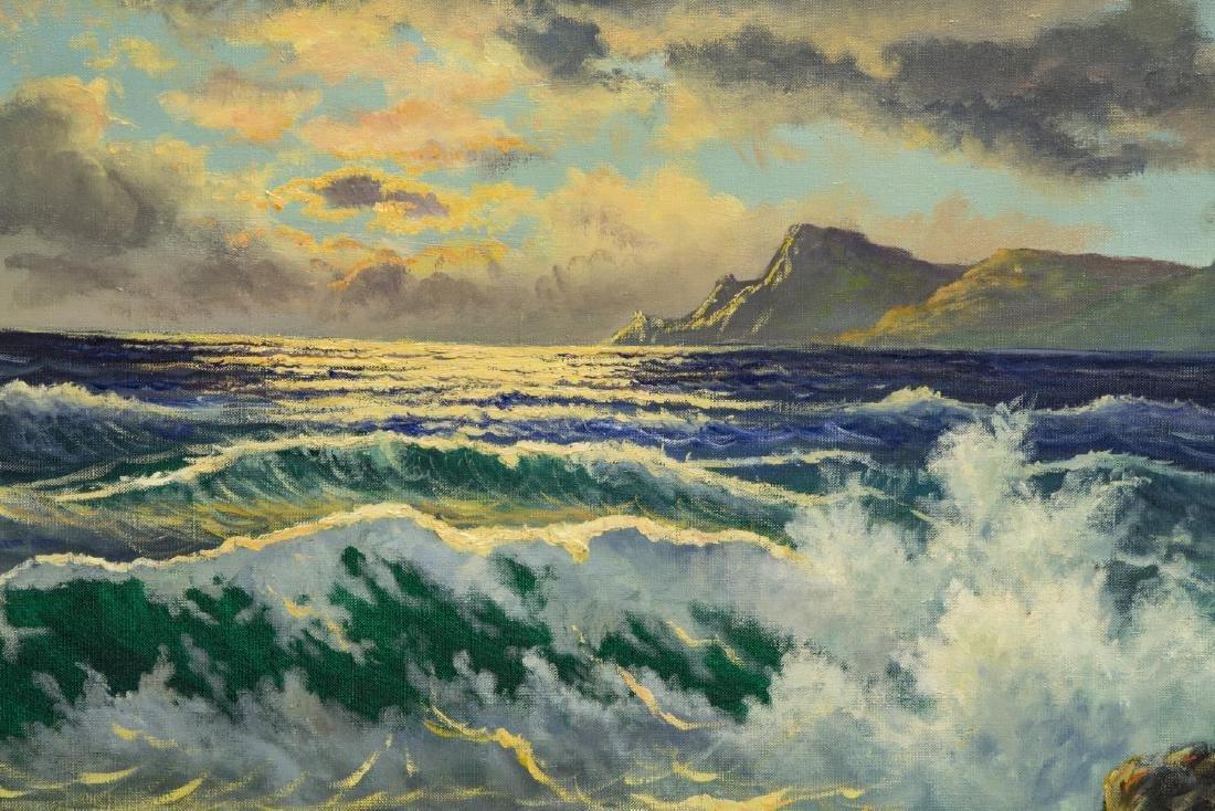 "G. HARVEY (1933-2017) OCEAN & MOUNTAINS, 24""x36"" - 3"