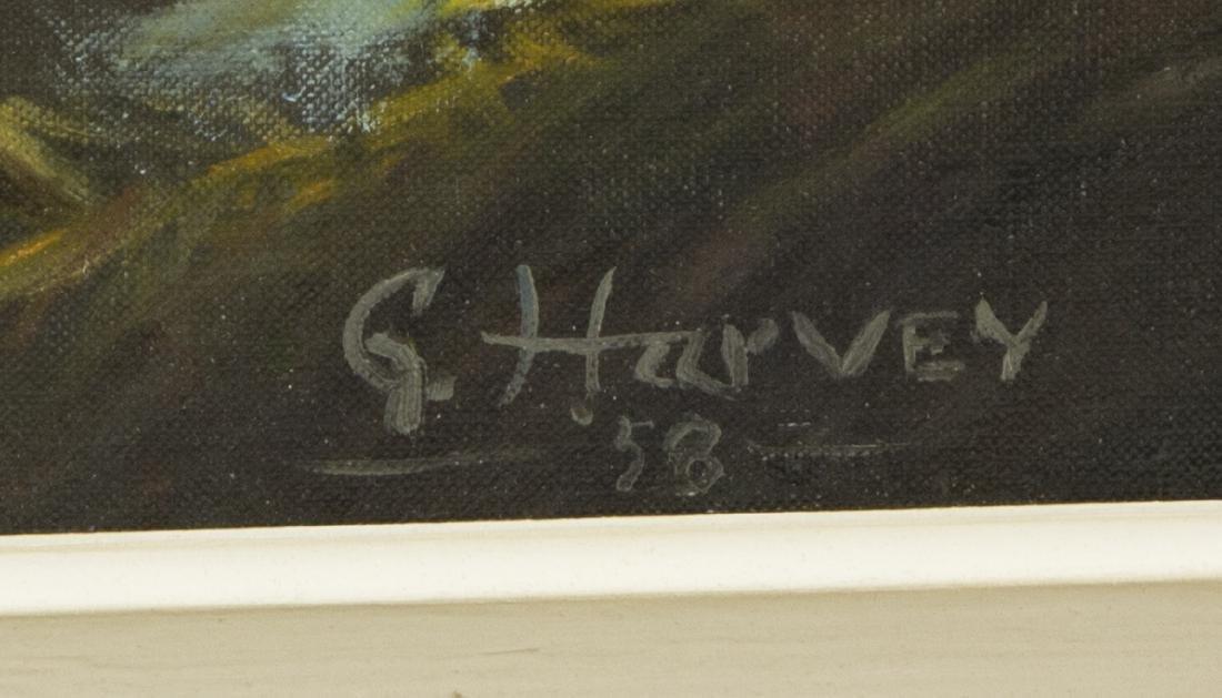 "G. HARVEY (1933-2017) OCEAN & MOUNTAINS, 24""x36"" - 4"
