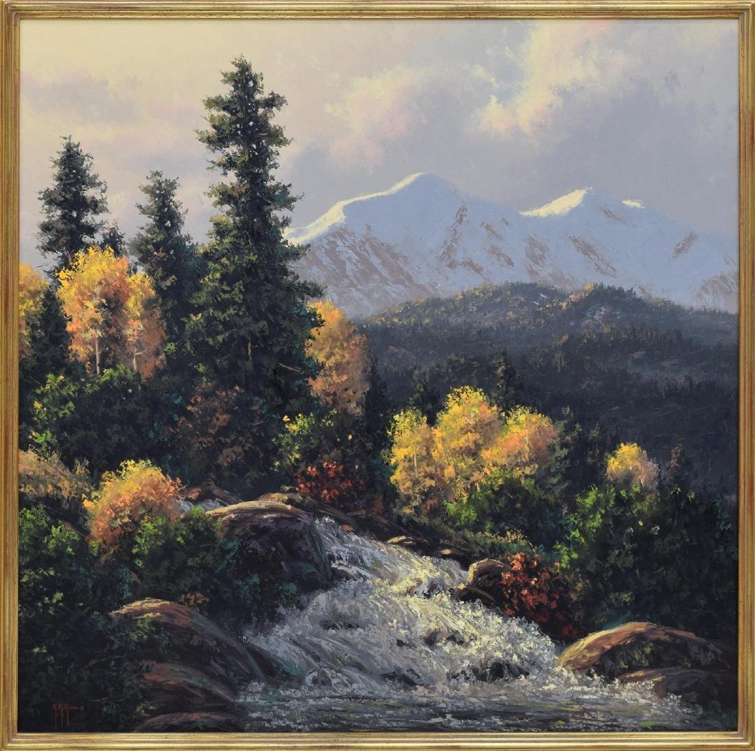 KENNY McKENNA (B. 1950) MOUNTAIN WATERFALLS