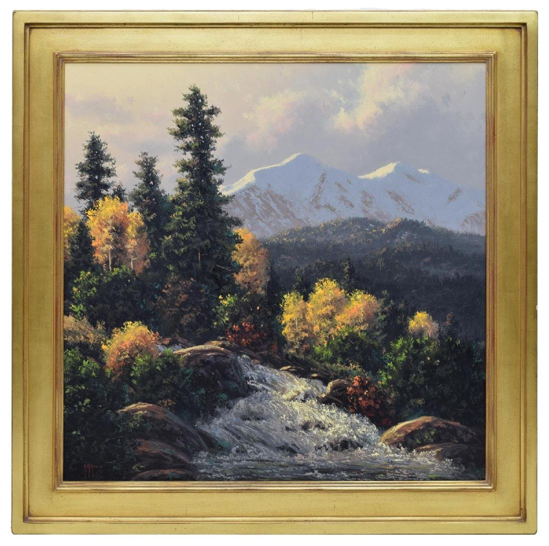 KENNY McKENNA (B. 1950) MOUNTAIN WATERFALLS - 2