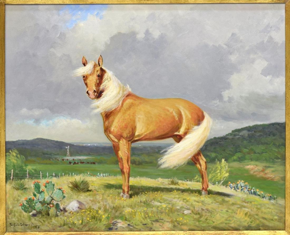 PORFIRIO SALINAS (1910-1973) SCARCE PALOMINO HORSE