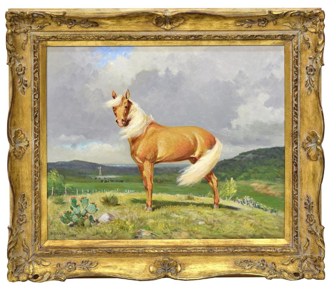 PORFIRIO SALINAS (1910-1973) SCARCE PALOMINO HORSE - 2