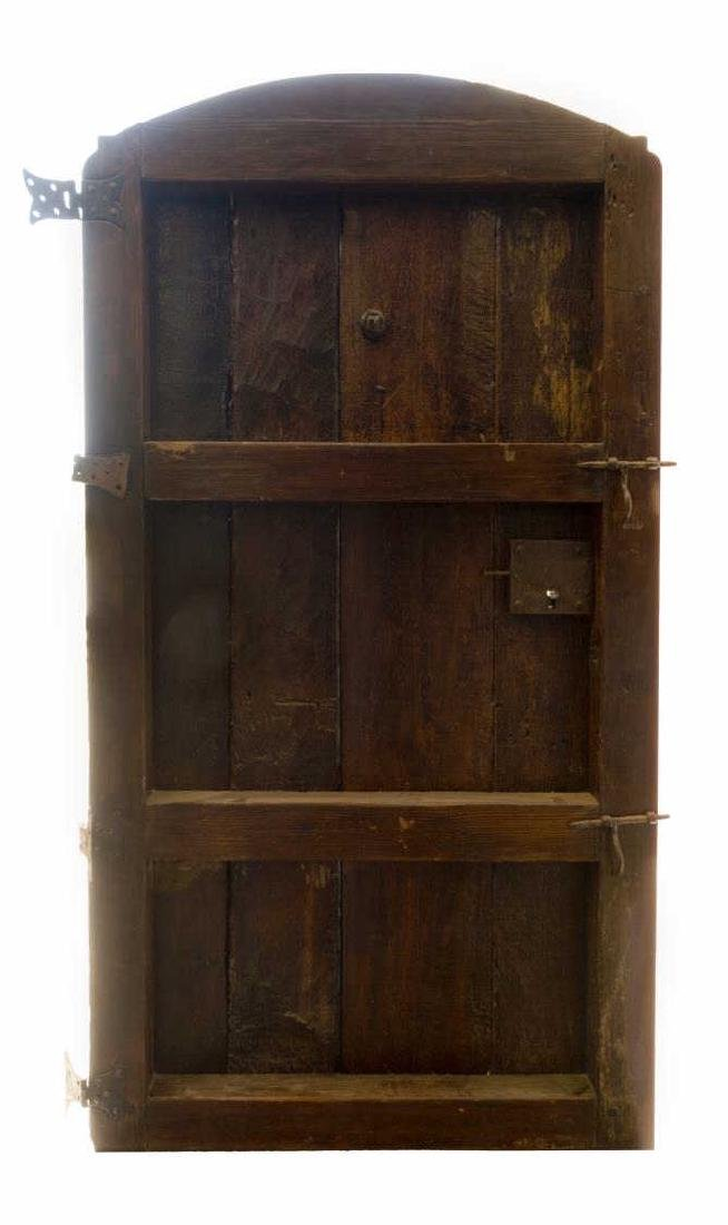 MONUMENTAL 18TH C. SPAIN IRON & WOOD DOOR & FRAME - 3