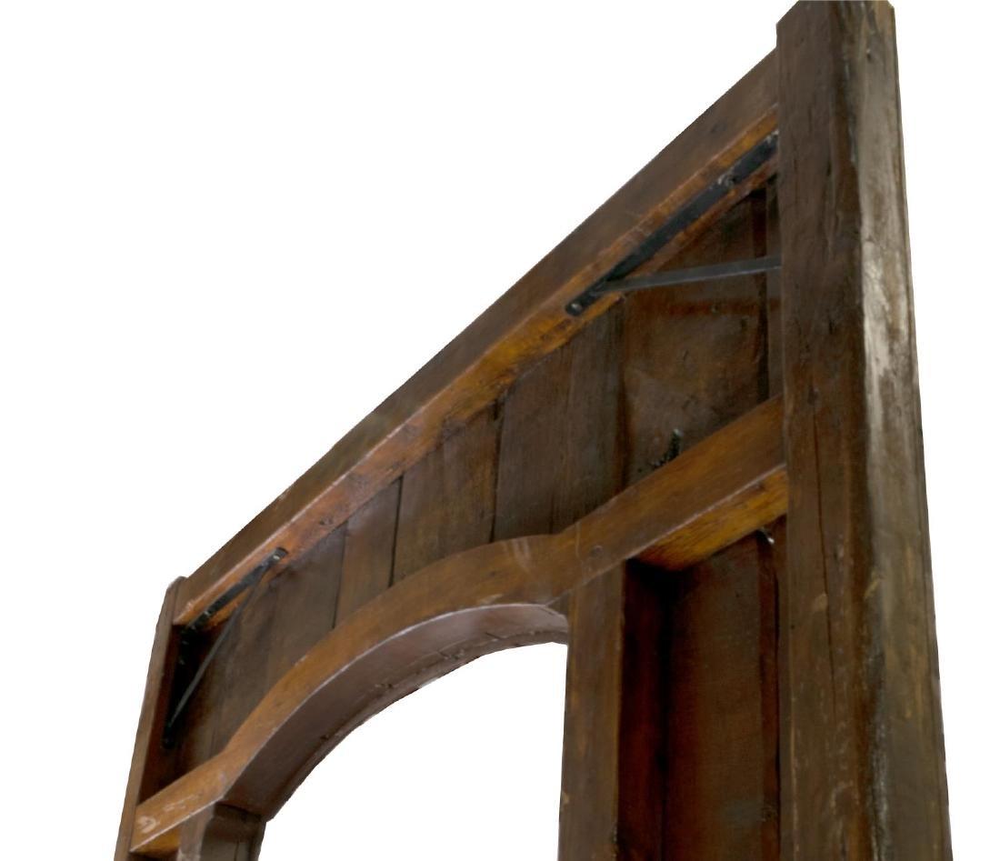MONUMENTAL 18TH C. SPAIN IRON & WOOD DOOR & FRAME - 4
