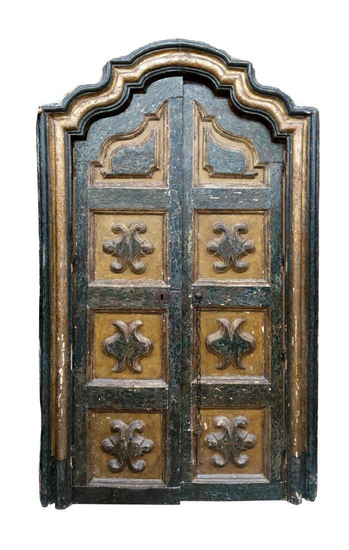 ANTIQUE ARCHITECTURAL SPANISH BAROQUE STYLE DOORS