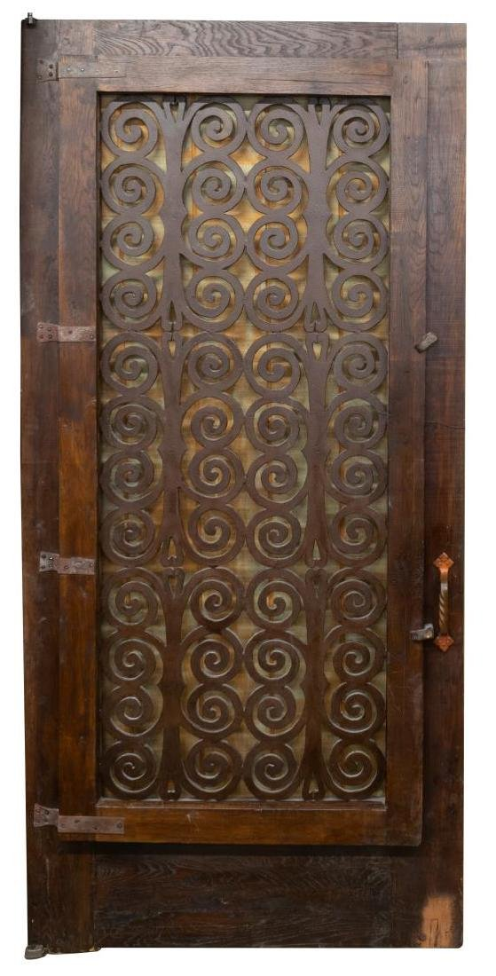 ARCHITECTURAL DOOR WITH SCROLLED IRON PANEL - 2