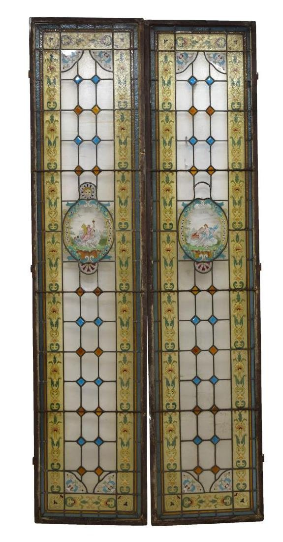 (2) ARCHITECTURAL STAINED GLASS WINDOW PANELS - 4