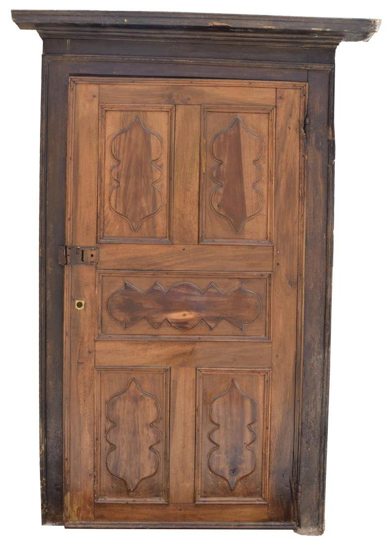 ITALIAN ARCHITECTURAL MONASTERY WALNUT DOOR