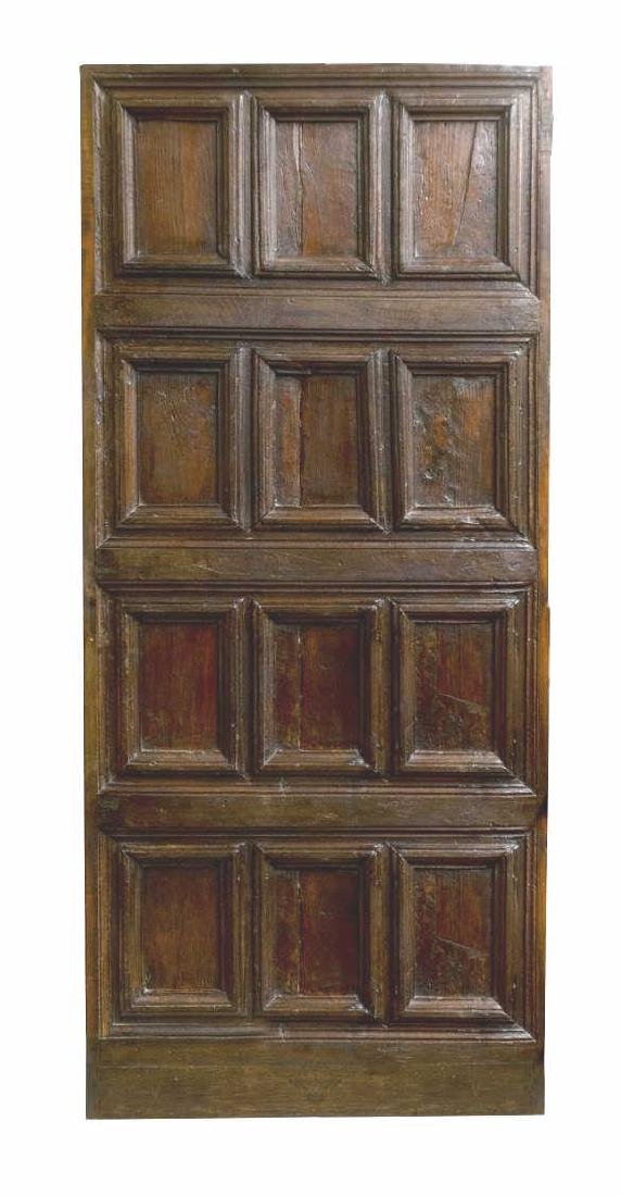 18TH C. ARCHITECTURAL SPAIN PANELED WOOD DOOR