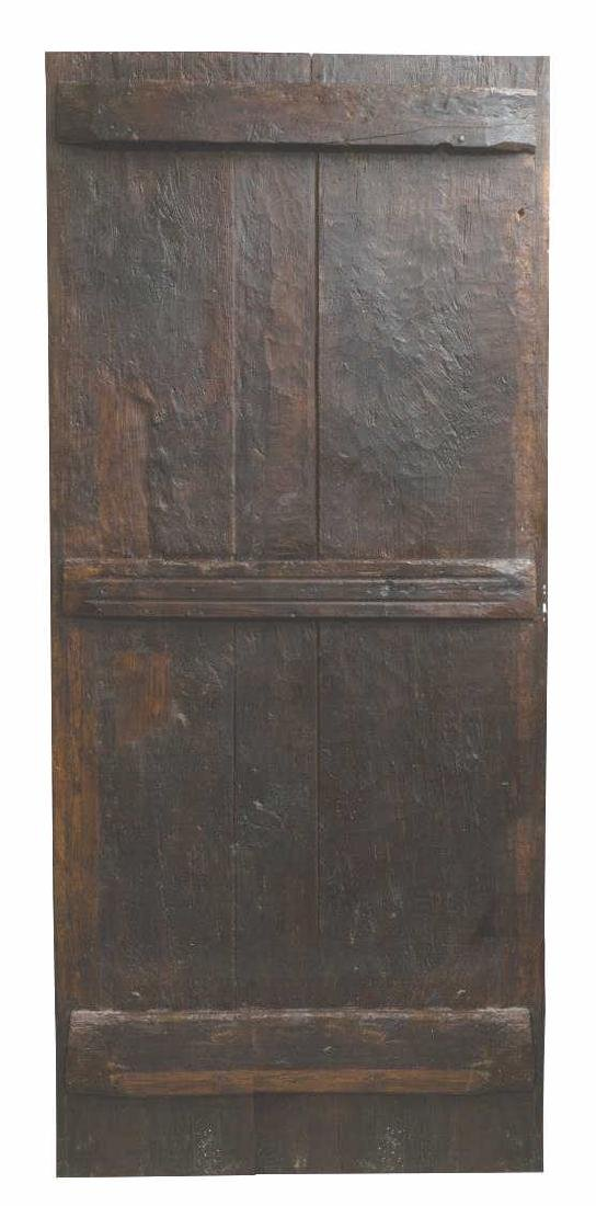 18TH C. ARCHITECTURAL SPAIN PANELED WOOD DOOR - 2