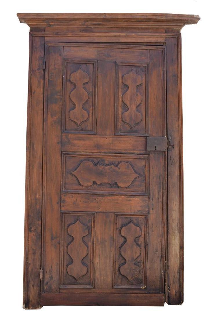 ITALIAN ARCHITECTURAL MONASTERY WALNUT DOOR