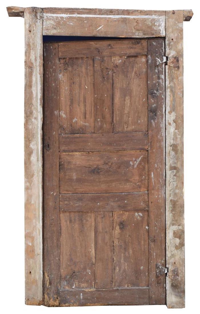 ITALIAN ARCHITECTURAL MONASTERY WALNUT DOOR - 2