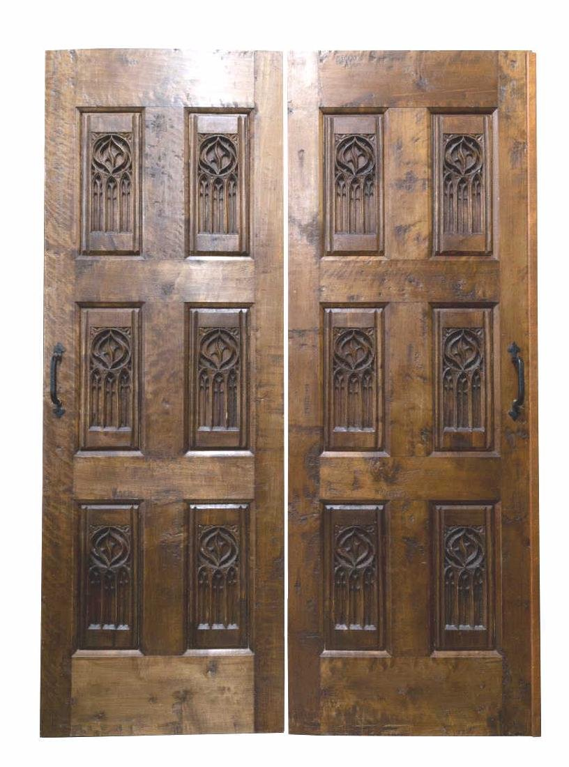 (PR) ARCHITECTURAL GOTHIC STYLE CARVED DOORS