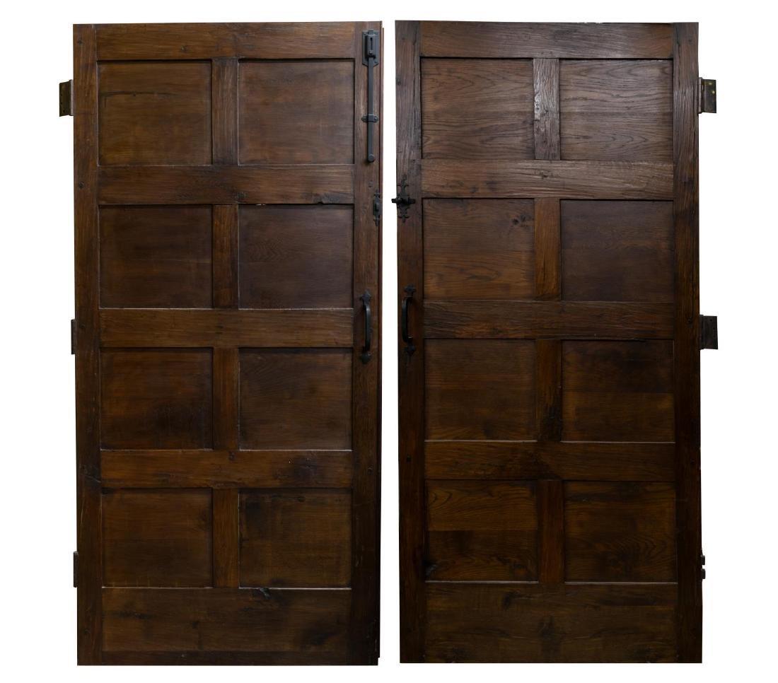 (PR) ARCHITECTURAL FIGURAL HUNT SCENE OAK DOORS - 2
