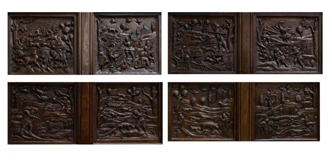 (PR) ARCHITECTURAL FIGURAL HUNT SCENE OAK DOORS - 3