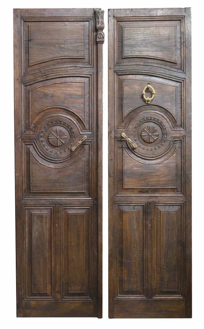 (PR) ANTIQUE ARCHITECTURAL PANELED FOLIATE DOORS