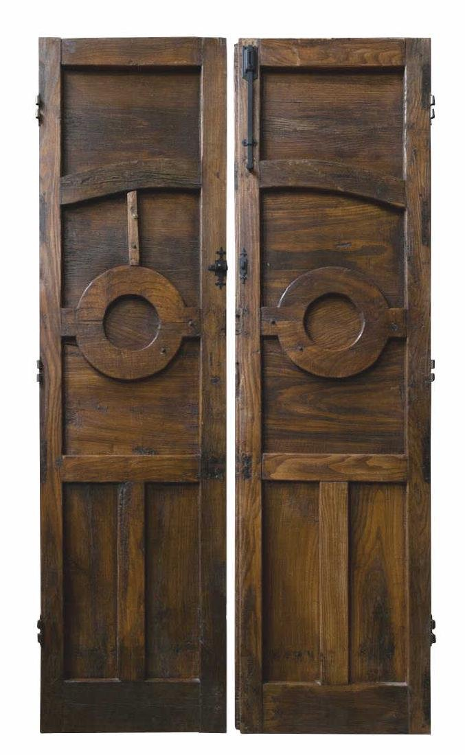 (PR) ANTIQUE ARCHITECTURAL PANELED FOLIATE DOORS - 2