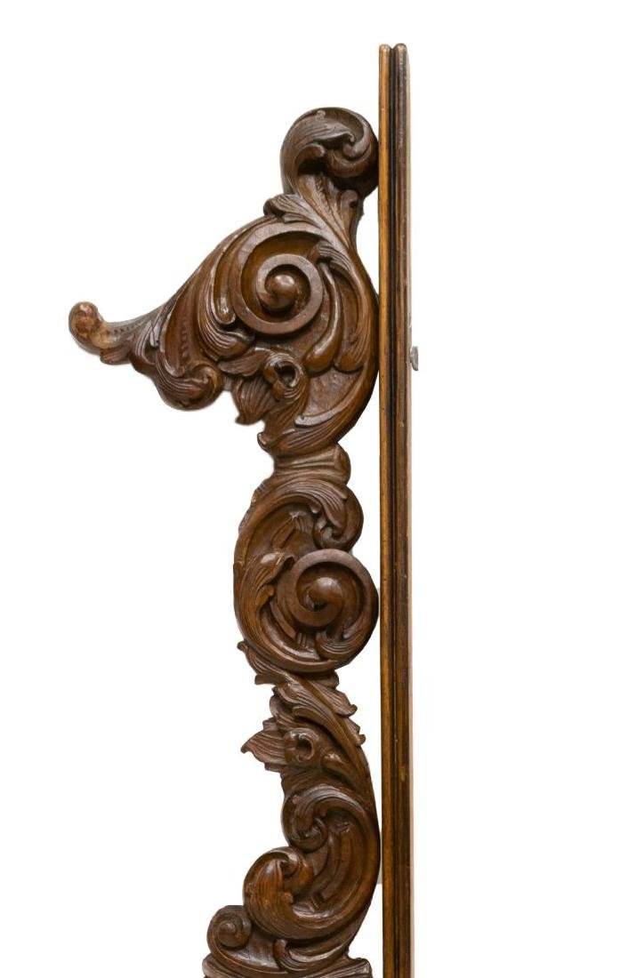 ITALIAN ARCHITECTURAL SCROLL CARVED CREST TRIM
