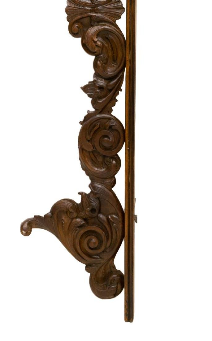 ITALIAN ARCHITECTURAL SCROLL CARVED CREST TRIM - 2