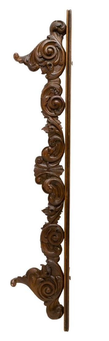 ITALIAN ARCHITECTURAL SCROLL CARVED CREST TRIM - 3