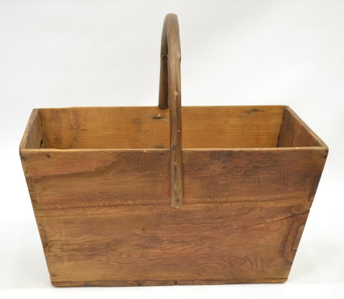 (2) DOVETAILED WOOD & BENTWOOD HANDLE BUCKETS - 2