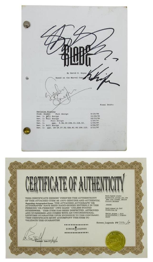 'BLADE' SCRIPT SIGNED BY WESLEY SNIPES, ETC.