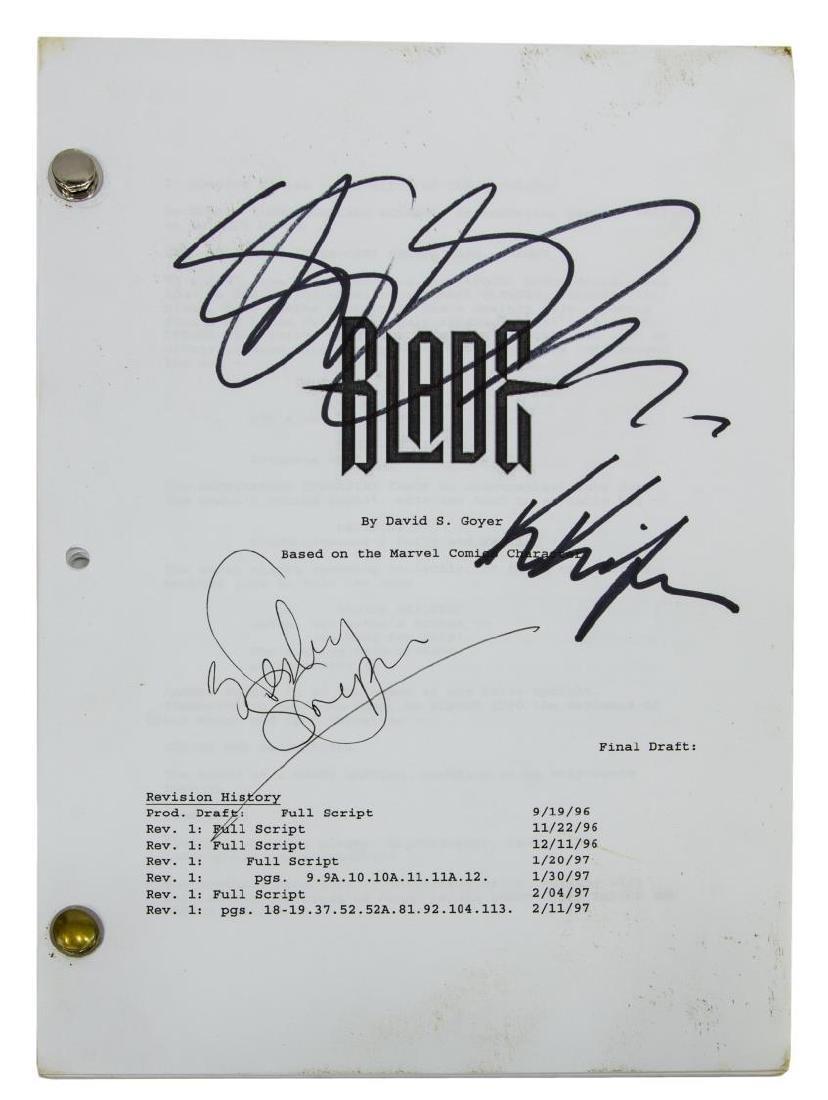 'BLADE' SCRIPT SIGNED BY WESLEY SNIPES, ETC. - 2