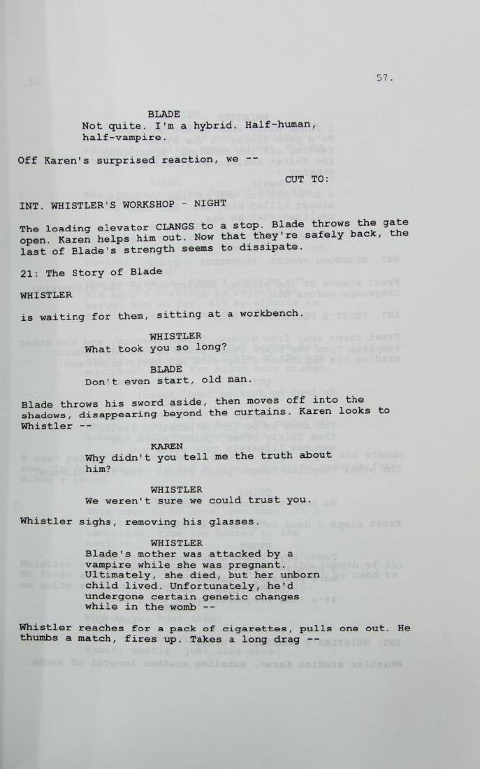 'BLADE' SCRIPT SIGNED BY WESLEY SNIPES, ETC. - 3