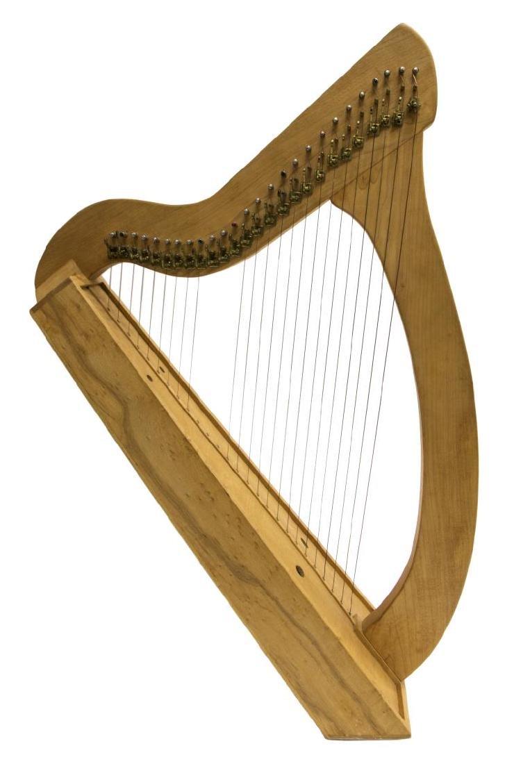 VINTAGE MAPLE 26-STRING IRISH LAP HARP